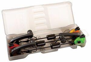 Fox MK2 Illuminated Swinger 3 Rod Set / Red Orange Green / Carp Fishing / CSI054