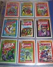 Vintage 1990 Marvel Universe Comic Cards Complete set 1-162