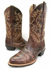 EUC Ariat Heritage Round Toe Weathered Chestnut Cowboy Western Boots 8D