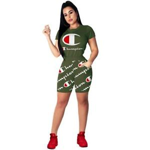 Champion Summer Outfit Women Green Size L