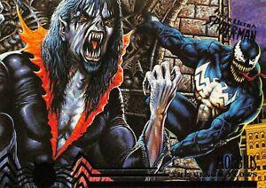 VENOM AND MORBIUS / Spider-Man Fleer Ultra 1995 BASE Trading Card #106
