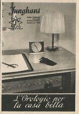 W3511 Iunghans l'orologio per la casa bella - Pubblicità 1943 - Advertising