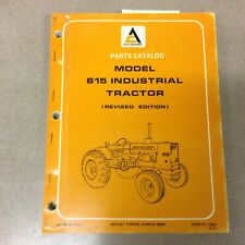 Allis Chalmers 615 Industrial Tractor Parts Manual Book Catalog List Guide Farm