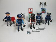 Playmobil Police Thief Figures Signs Desk  Weapons Cuffs Keys Lot NEW Loose