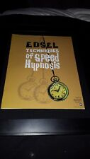 Edsel Techniques Of Speed Hypnosis Rare Original Radio Promo Poster Ad Framed!