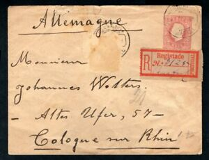Portugal - 1892 Registered Prepaid Cover to Cologne, Germany