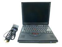 Vintage IBM Thinkpad 600X Type 2645 Pentium III 500MHz - Windows 98