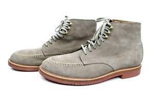 J CREW Kenton Boulder Gray Pacer Suede Lace-Up Boots A9648 Mens sz 13