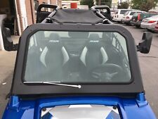 Polaris RZR 570, 800, XP900 Full Glass Windshield with Wiper Black