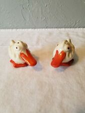 Pair of Ceramic Ducks with Large Bills, Salt and Pepper Shakers Made in Japan