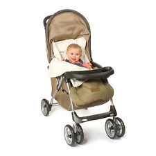 Stroller Blanket or Stroller Cover & Baby Bunting Bag Standard Taupe Embroidered