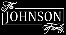 Family Name Custom Personalized Car Van Truck Laptop Vinyl Decal Sticker 8""