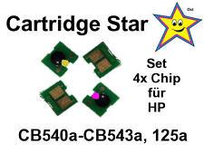 4x Toner Reset Chip für HP CB540a CB541a CB542a CB543a 125a