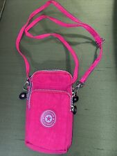 Liz Hilian Pouch Bag in pink with three compartments