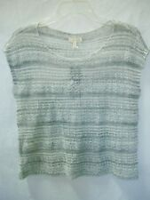 EILEEN FISHER Lt-Gray Slvls Linen Boucle Cloud Knit Sweater Top $168 NWT sz XS