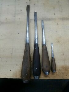 Lot of Vintage Perfect Handle Wood Clad Screwdriver Made in Germany
