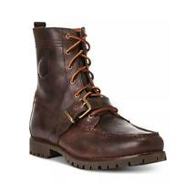 Men's Polo Ralph Lauren BO-CSL Brown Leather Ranger Boots Size 8.5 D MSRP $175