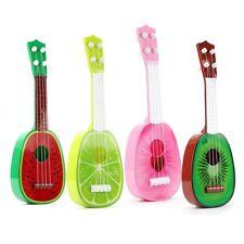 Kids Kleine Gitarre Frucht Ukulele 4 Saiten Pädagogisches Spielzeug Zufällig