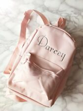 Personalised Children's Embroidered Baby Pink School /Everyday Rucksack Backpack