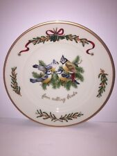 Royal Gallery ALL THE DAYS OF CHRISTMAS 4 Calling Bird Dessert Pie Plate 12 Days