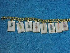 2012 Barbie Convention Exclusive Vintage Travel Inspired Charm Bracelet 8 Charms