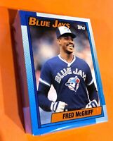 50) FRED McGRIFF Toronto Blue Jays 1990 Topps Baseball Card #295 LOT