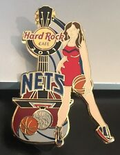 HARD ROCK CAFE ONLINE NEW JERSEY BROOKLYN NETS 2011 NBA CHEER GIRL GUITAR PIN