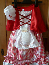 TU Red riding hood Costume Fancy Dress Outfit Childrens 3-4 year