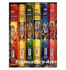 Hem Indian God Incense Variety Sampler 6 Pack of 20, 120 Sticks Total, Set 1