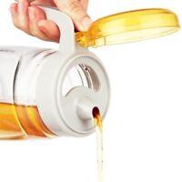 Olive Oil Vinegar Honey Glass Pourer Dispenser Bottle Spirit Jug Canister Jar