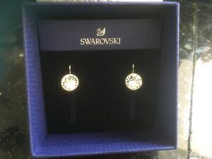 Swarovski Bella Mini Chrystal Earrings, White, Rhodium plated