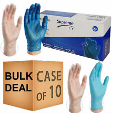 More details for blue clear vinyl gloves disposable powder free latex free multipurpose food safe
