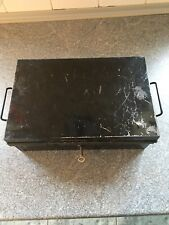 Vintage Criterion deed /solicitor/Cash  box Black With Key
