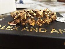 NWT ALEX and ANI VINTAGE 66 Russian GOLD STUDSTRUCK Beaded Wrap BRACELET