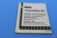 OEM YAMAHA YZ250 1988-89 OWNERS MANUAL FRENCH/ENG/GER PART# 3RB-28199-80