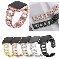 Bling Rhinestone Strap For Fitbit Versa /Lite Stainless Steel Watch Wrist Band