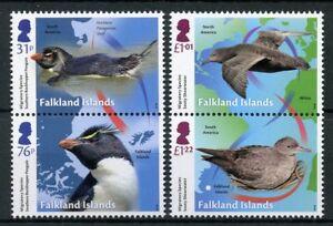 Falkland Islands 2018 MNH Migratory Species Penguins 4v Set Birds Stamps