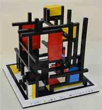 Lego Custom The Cube of Mondrian Famous Structure Sculpture