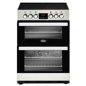 Belling Cookcentre 60E Stainless Steel Ceramic Electric Cooker with Double Oven