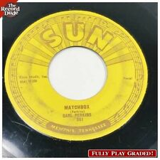"""CARL PERKINS """"Matchbox / True Love"""" SUN 261 original rockabilly r&r boogie 45"""