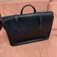 Black Leather Sheet Music Carry Bag