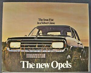 1969 Opel Brochure GT Coupe Kadett Olympia Rekord Commodore Excellent Original