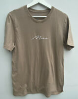 Men's T-shirt Size S Brown Boohoo Man Cotton <MM1173