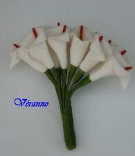 12 fleurs arum blanc sur tige. Décoration de mariage