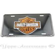 Harley Davidson Motorcycles Black Licensed Aluminum Metal License Plate Sign Tag