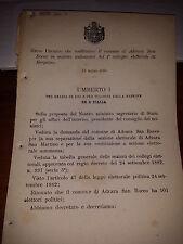 REGIO DECRETO 1890  COST ADRARA SAN ROCCO sez  e BERGAMO cita ADRARA SAN MARTINO