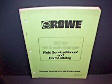 Rowe BC-20 Original 1981 Dollar Bill Change Machine Service Parts Manual Catalog