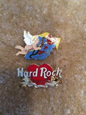 Lot Of 2 Hard Rock Cafe 1997 Shanghai  00 Beijing Valentine Day Guitar Pin LE