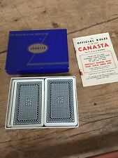 Vintage CANASTA card game by Waddingtons With rules  Original  Boxed Game