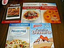 NEW Lot of 5 Publications International Cookbook Crockpot, Dole, Campbells, Jell